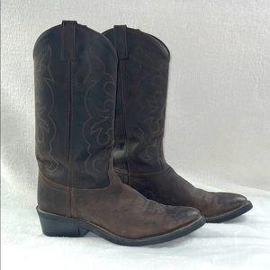 Old West Dark Brown Western Boots